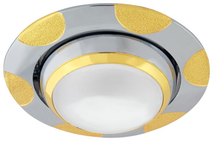 Встраиваемый светильник De Fran FT 156 ZJA R50 CHG, хром / золото