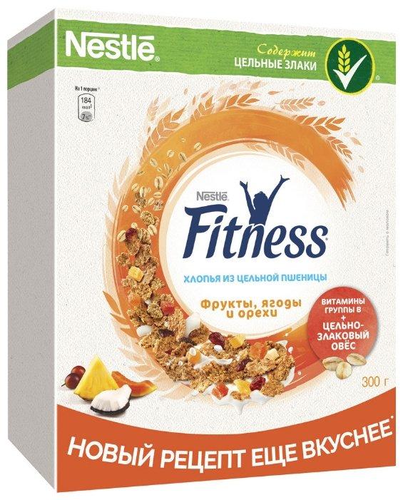 Готовый завтрак NESTLE FITNESS Nestle® Fitness® хлопья из цельной пшеницы с фруктами, ягодами и орехами, 300 гр.