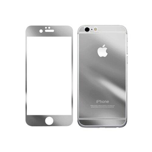 Защитное стекло CaseGuru зеркальное Front & Back для Apple iPhone 6 Plus/6S Plus Logo gray защитное стекло caseguru для apple iphone 6 6s silver logo