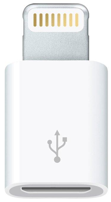 Разъем Apple microUSB - Lightning (MD820ZM/A)