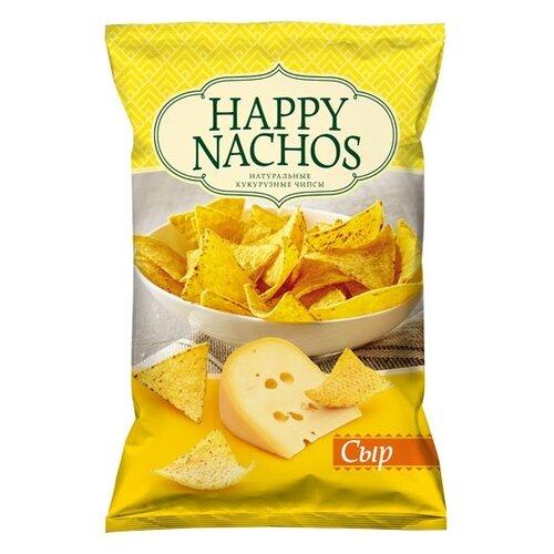 Чипсы Happy Nachos кукурузные Сыр, 75 г