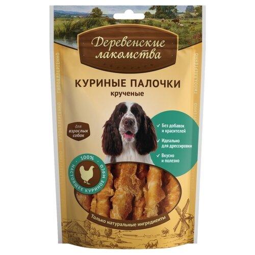 Лакомство для собак Деревенские лакомства Куриные палочки крученые, 90 г