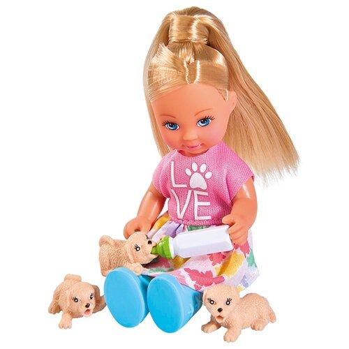Купить Набор Simba Evi с собачкой и щенками, 12 см, 5733072, Куклы и пупсы