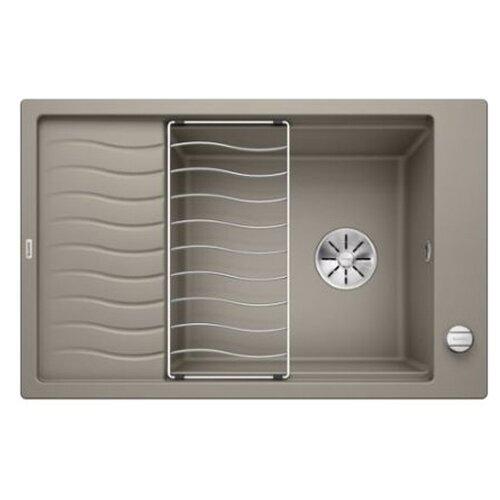 Врезная кухонная мойка 78 см Blanco Elon XL 6S с клапаном-автоматом 524841 серый беж кухонная мойка blanco elon xl 6s silgranit жасмин с клапаном автоматом