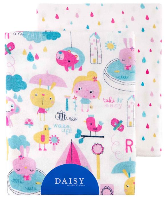 Многоразовые пеленки Daisy фланель 90х145 комплект 2 шт.