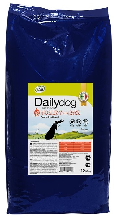 Корм для собак Dailydog Senior Small Breed Turkey and Rice