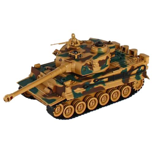 Танк Пламенный мотор Tiger (87553) 1:28 35 см коричневый/зеленый цена 2017