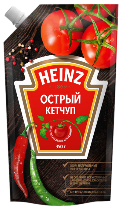 Кетчуп Heinz острый, 350 г.