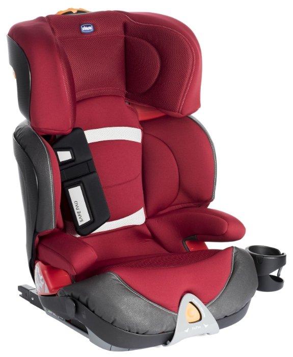 Автокресло группа 2/3 (15-36 кг) Chicco Oasys 2-3 Evo FixPlus red passion