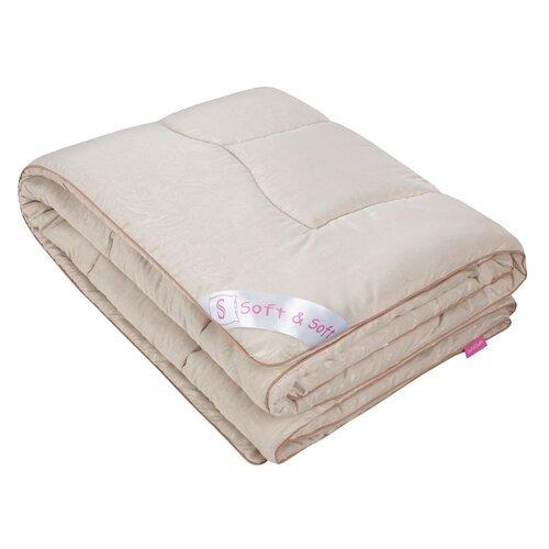 Одеяло Традиция Soft&Soft Овечья шерсть, теплое, 140 х 205 см (бежевый) одеяло облегченное iv20338 овечья шерсть микрофибра 1 5 спальный 140 205
