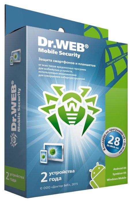 Dr.Web Mobile Security (2 устройства, 2 года) коробочная версия