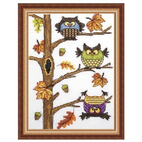 NeoCraft Набор для вышивания крестиком Осенний совопад 15 x 20 см (рз-06) набор для вышивания neocraft рз 16 садовница