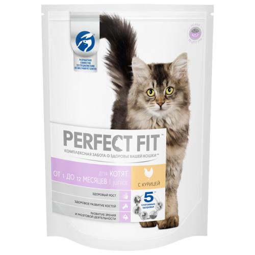 Корм для кошек Perfect Fit (0.65 кг) Junior Сухой корм с курицей для котятКорма для кошек<br>
