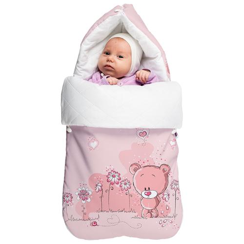 Купить Конверт-мешок МиМиМи зимний Мишки 75 см розовый, Конверты и спальные мешки