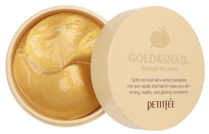 Petitfee Гидрогелевые патчи для век с золотыми частицами и фильтратом муцина улитки Gold & Snail hydrogel eye patch (60 шт.)