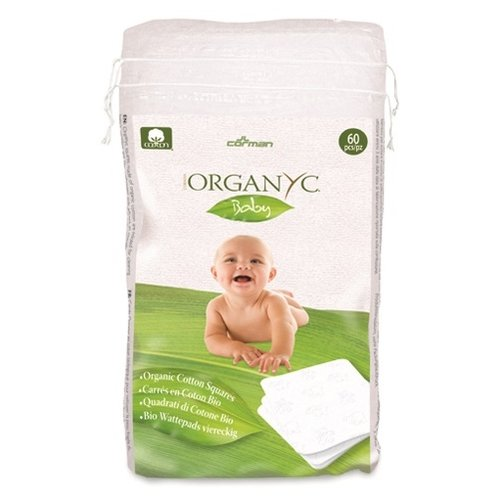 Ватные подушечки Organyc Baby из органического хлопка, 60 шт.