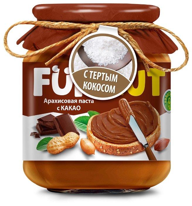 Funnut Арахисовая паста с какао с тертым кокосом