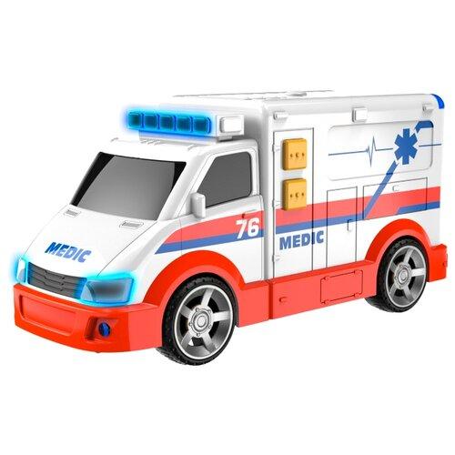 Купить Фургон Teamsterz 1416564 15 см белый, Машинки и техника