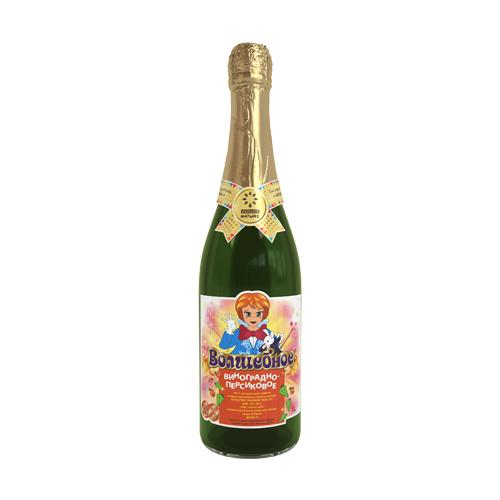 Газированный напиток Волшебное Виноградно-персиковый, 0.75 л