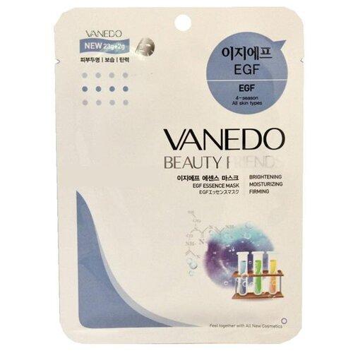 Vanedo EGF Essence Mask Sheet Pack Маска для лица с EGF-фактором, 25 г bergamo маска трехэтапная для лица увлажняющая 3step aqua mask pack 8 мл