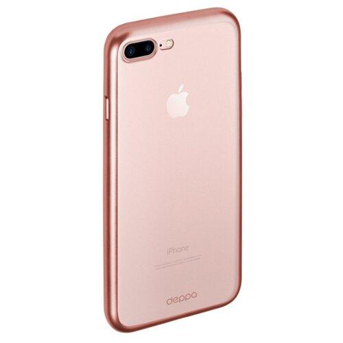 Чехол-накладка Deppa Gel Plus Case (матовый) для Apple iPhone 7 Plus/iPhone 8 Plus розовое золото чехол накладка deppa gel plus case матовый для apple iphone x xs розовое золото