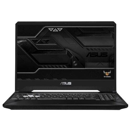 Купить Ноутбук ASUS TUF Gaming FX505GD-BQ144 (Intel Core i5 8300H 2300 MHz/15.6 /1920x1080/8GB/1000GB HDD/DVD нет/NVIDIA GeForce GTX 1050/Wi-Fi/Bluetooth/Без ОС) 90NR00T3-M04920 черный