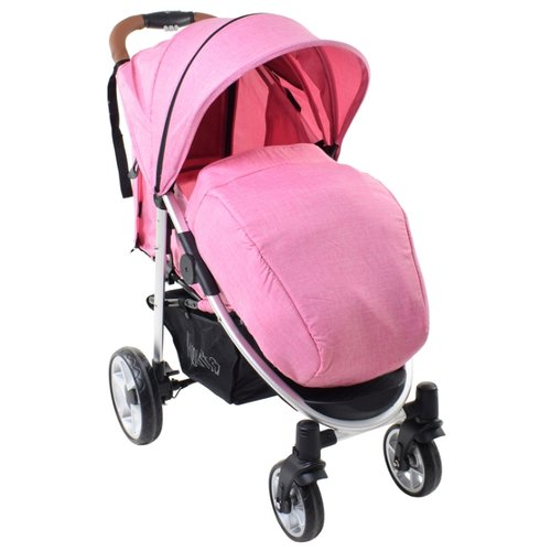 Прогулочная коляска Nuovita Corso rosa/argento, цвет шасси: серебристый