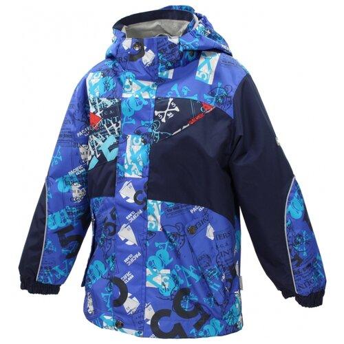 Куртка Huppa Fredman 1767CS16 размер 116, 535 синий с принтом куртка huppa isla 17820020 размер 116 73320 white pattern gray
