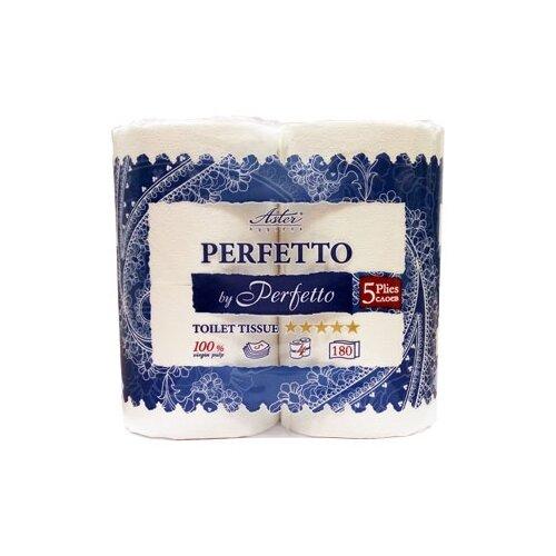 Купить Туалетная бумага Aster Perfetto by Perfetto белая пятислойная, 4 рул.