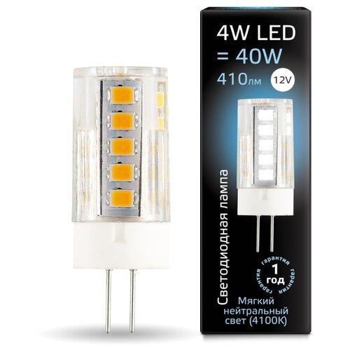 Лампа светодиодная gauss 207307204, G4, JC, 4Вт лампа светодиодная gauss 207707203 g4 jc 3вт