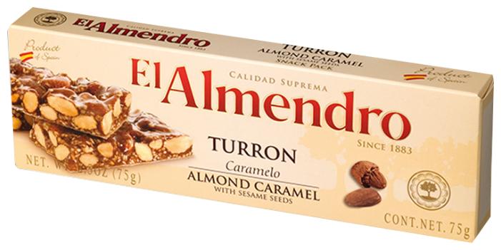 Нуга El Almendro Туррон хрустящий миндальный с кунжутом 75 г