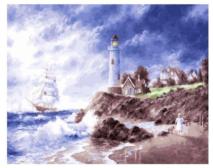 купить Color Kit картина по номерам маяк 40х50 см Cg923