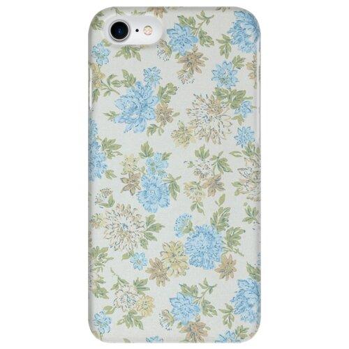 Чехол Mitya Veselkov IP7.MITYA-037 для Apple iPhone 7/iPhone 8 нежные голубые цветы чехол для iphone 5 mitya veselkov птички невелички