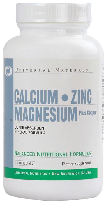 Мультиминералы Universal Nutrition Calcium Zinc Magnesium (100 таблеток)