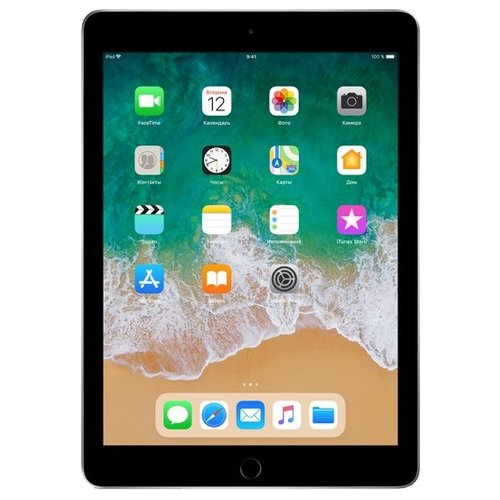 Планшет Apple iPad (2018) 32Gb Wi-Fi + Cellular space gray планшет