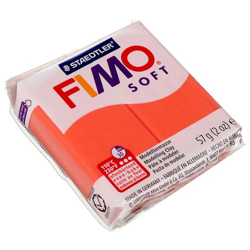 Полимерная глина FIMO Soft запекаемая фламинго (8020-40), 57 г полимерная глина fimo soft запекаемая зеленое яблоко 8020 50 57 г