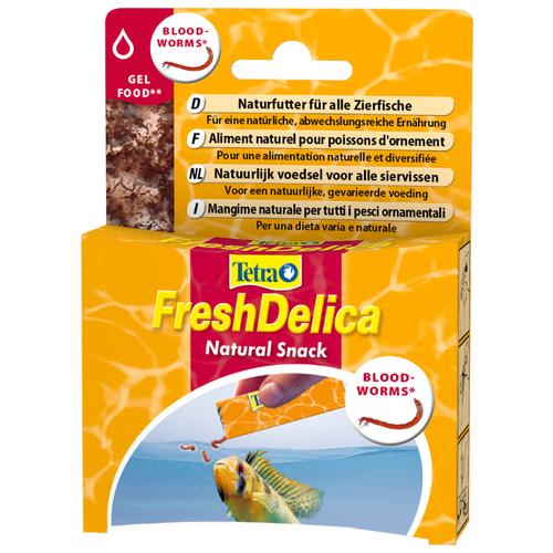 Витамины и добавки для рыб Tetra FreshDelica Bloodworms 48 г