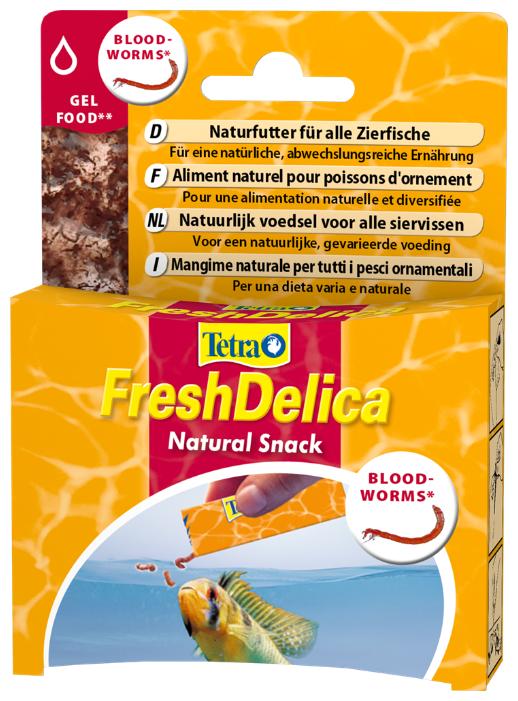 Витамины и добавки Tetra FreshDelica Bloodworms для рыб