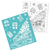 Наклейка интерьерная Феникс Present Санки с подарками 15.5 x 17.5 см
