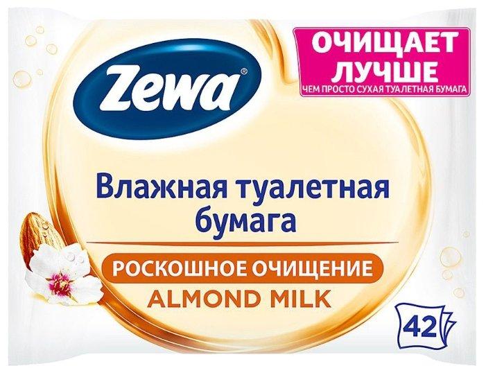 Влажная туалетная бумага Zewa Миндальное молочко 42 шт.