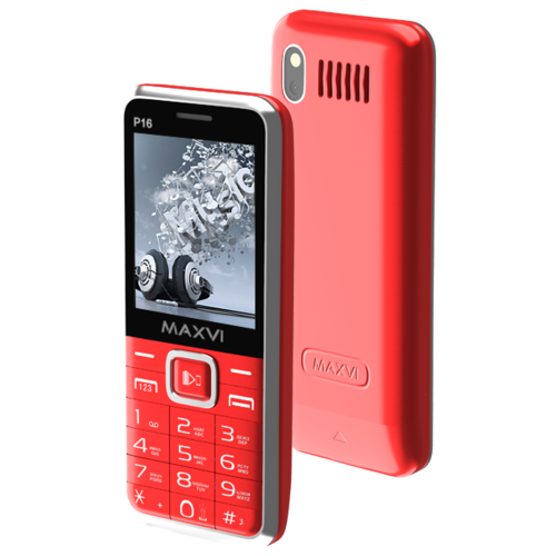 Фото - Телефон MAXVI P16 красный телефон maxvi x650 красный