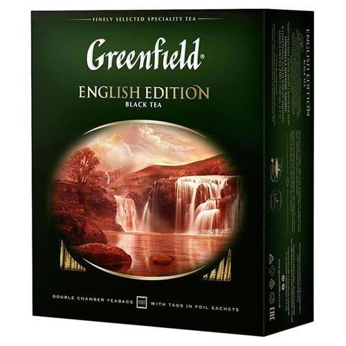 Чай черный Greenfield English Edition в пакетиках, 100 шт.Чай<br>