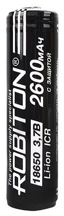 Аккумулятор Li-Ion 2600 мА·ч ROBITON 18650-2600 с защитой
