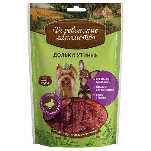 Лакомство для собак Деревенские лакомства для мини-пород Дольки утиные, 55 г