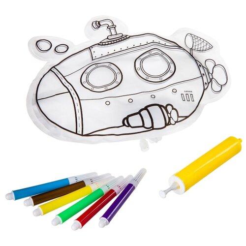 Купить Игрушка для ванной BONDIBON Подводная лодка (ВВ2566) белый, Игрушки для ванной