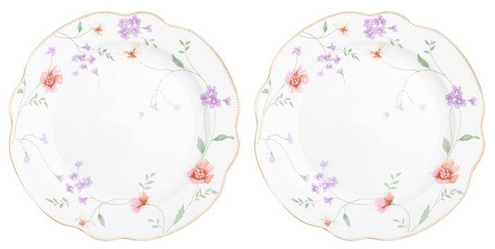 Elan gallery Набор обеденных тарелок Диана 25,5 см, 2 шт