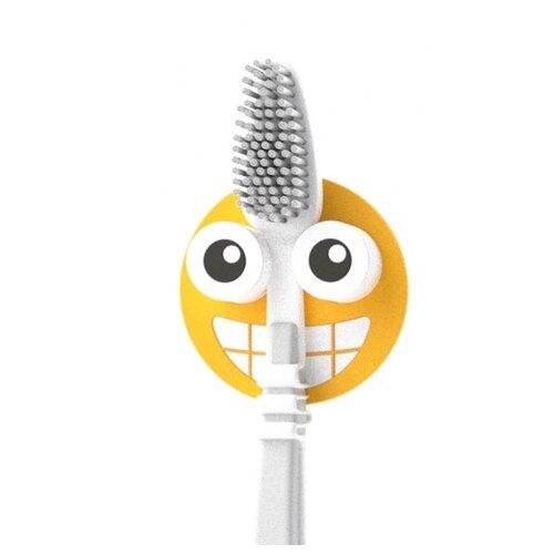 Держатель balvi Emoji для зубной щётки желтый держатель для зубной пасты и щеток balvi kitty