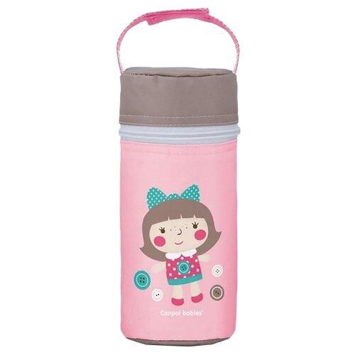 Купить Canpol Babies Термоконтейнер для бутылочки (69/008), розовый, Бутылочки и ниблеры