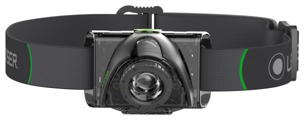 Фонарь светодиодный налобный LED Lenser MH6, черный, 200 лм, аккумулятор (501512)