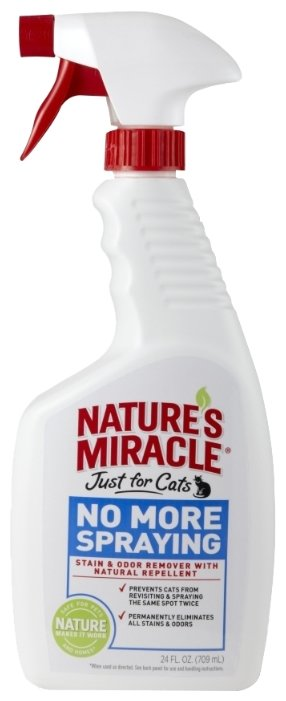 Средство-антигадин для кошек 8IN1 Nature's Miracle No More Spraying 710мл.